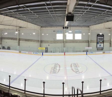 LED lighting hockey arena